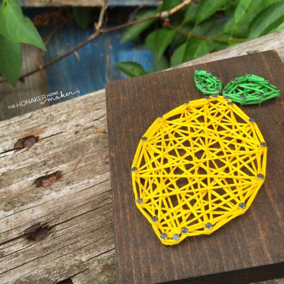 Lemon String Art