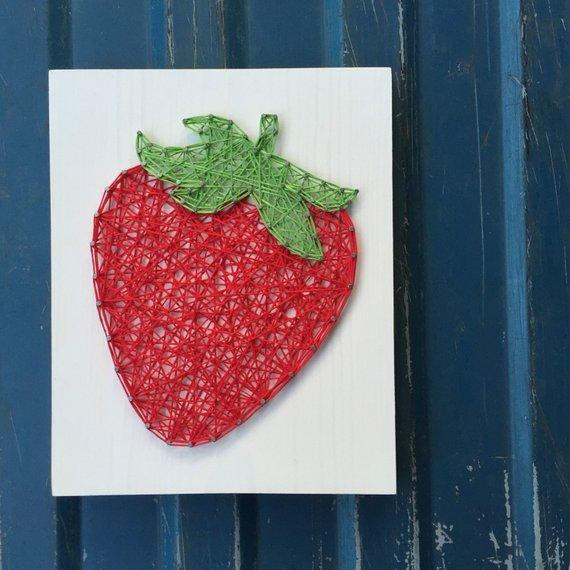 Strawberry String Art
