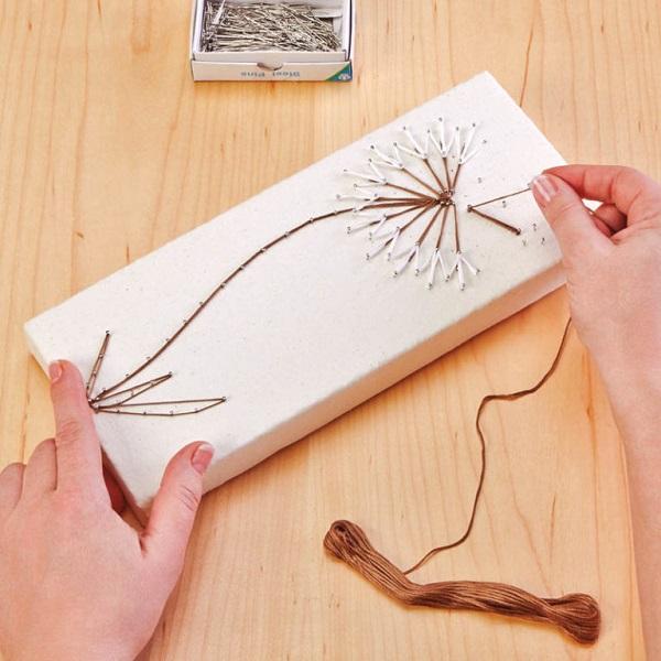 String Art on canvas 7
