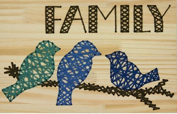 Family Birds String Art 3