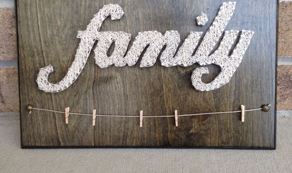 Family Photos String Art 4