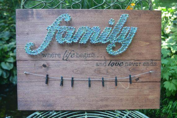 Family Photos String Art
