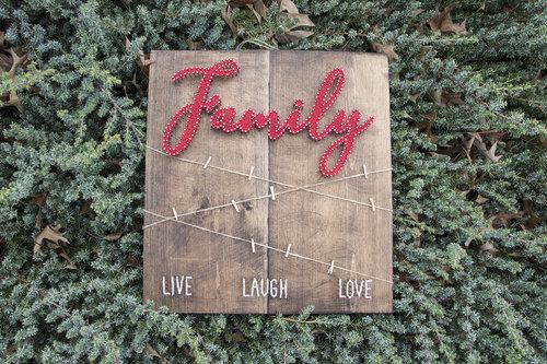 Family Photos String Art 3