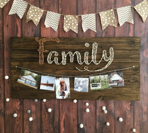 Family Photos String Art 5