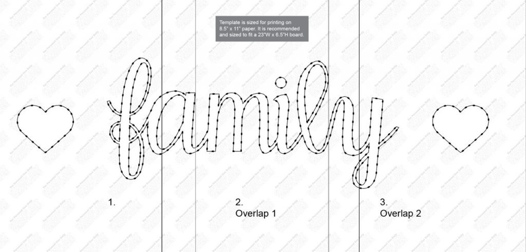 Family String Art Pattern