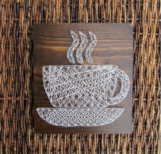 String Art Kitchen Coffee