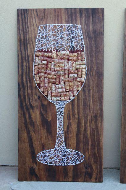 String Art Kitchen Wine Glass