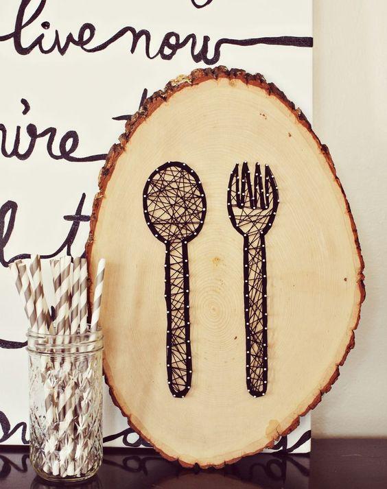 String Art Kitchen Cutlery