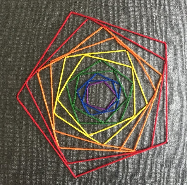 Easy String Art Geometric