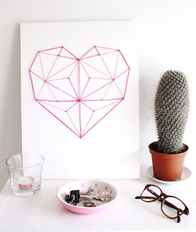 Easy String Art Geometric heart