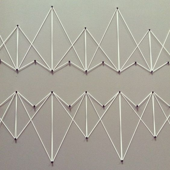 Easy String Art Geometric triangles or mountains