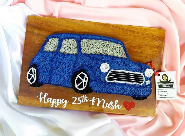 String Art Car Mini Cooper