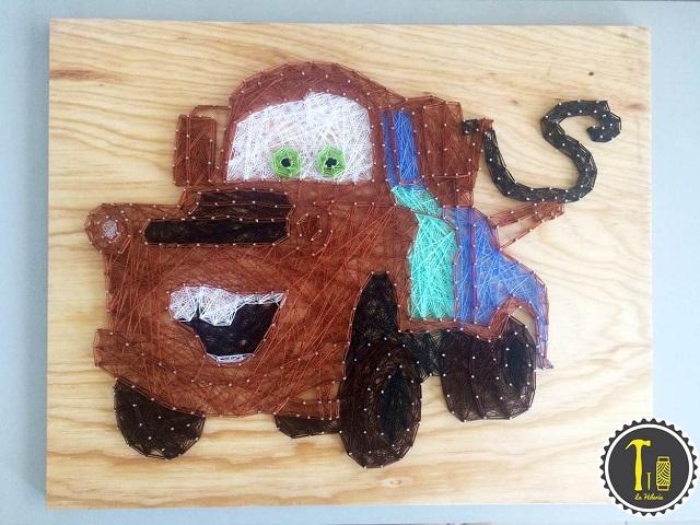 String Art Car Tow Mate Mater