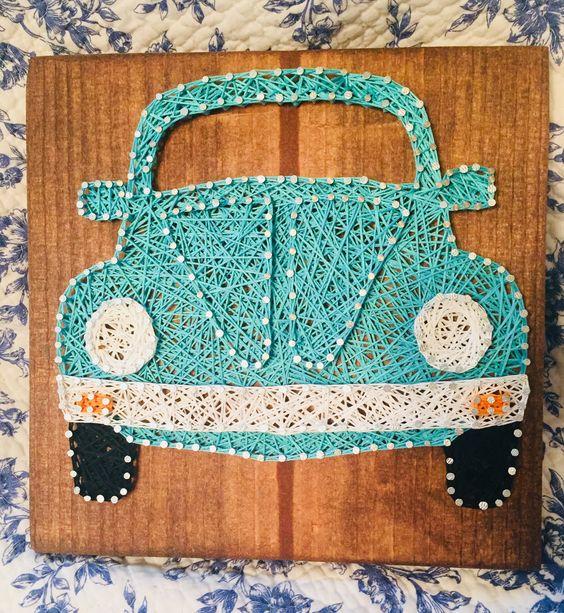 String Art Car Beetle 12