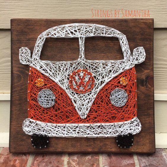 String Art Car volkswagen Van 2