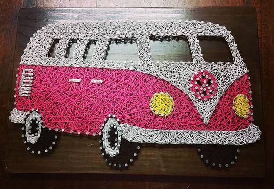 String Art Car volkswagen Van