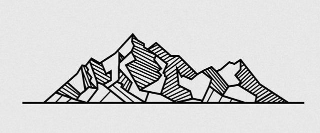 Mountain Pattern String Art geometric 2
