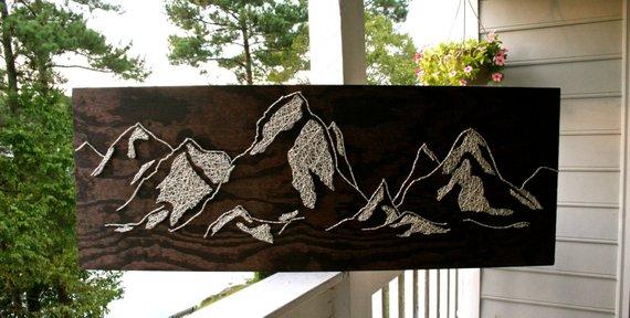 String Art Mountains 2