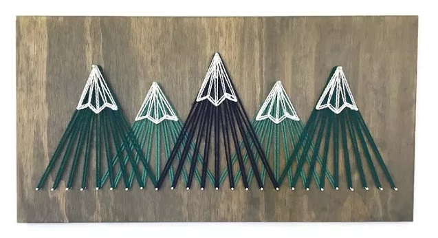 String Art Mountains 6