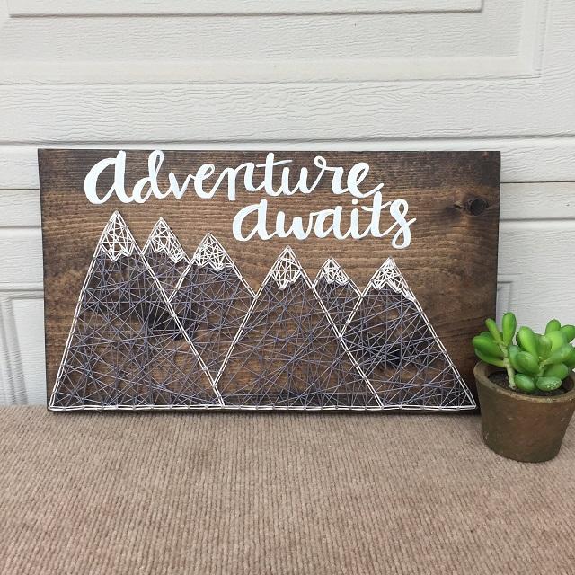 String Art Mountains 8