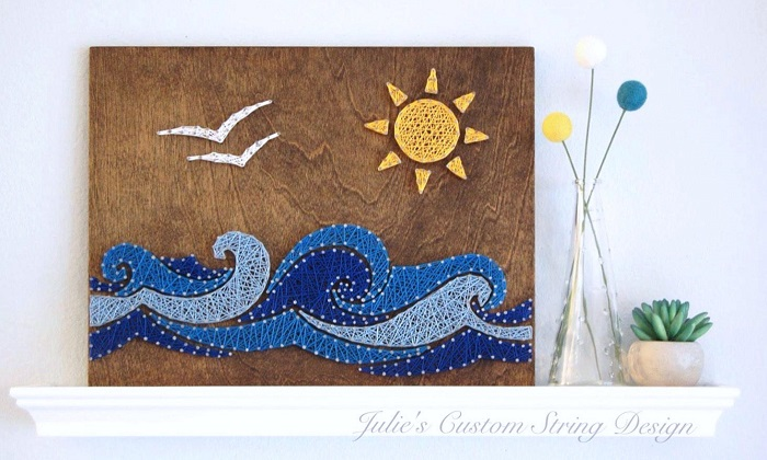 String Art Coastal Style or Nautical Style
