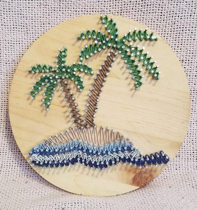 Summer String Art Desert island