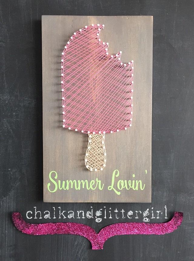 Summer String Art Popsicle