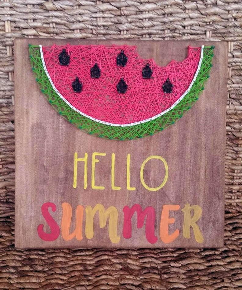 Summer String Art Watermelon