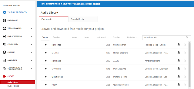 Non copyright music Youtube