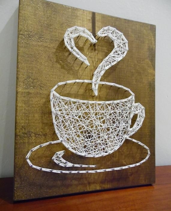 Cup coffe String Art