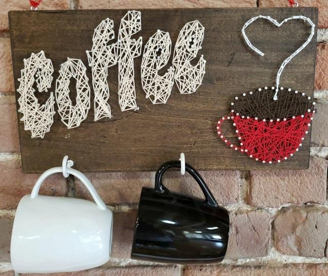 String Art Coffee Mug Hanger