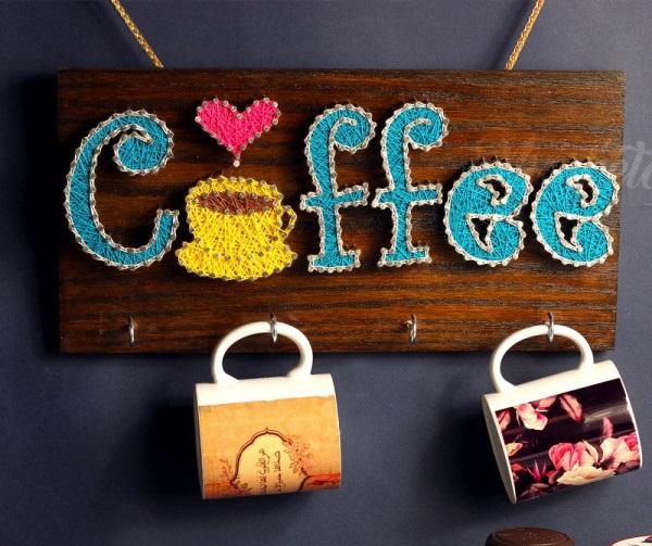 String Art Coffee Mug Hanging 3