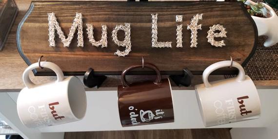 String Art Coffee Mug Hanging