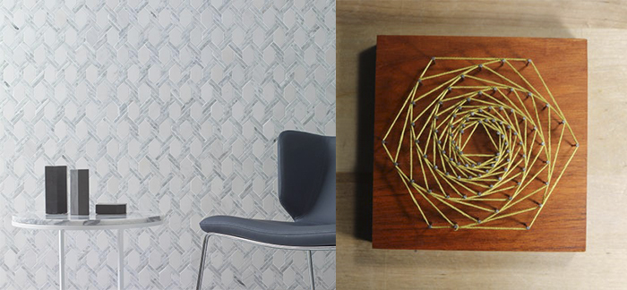 String Art hexagon Mosaic Tiles