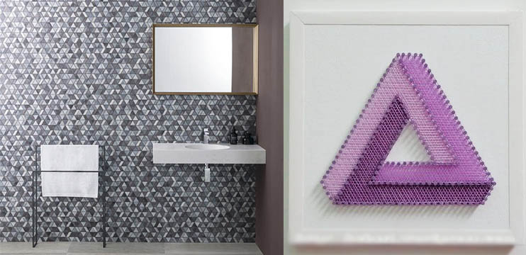 String Art Triangle Mosaic Tiles