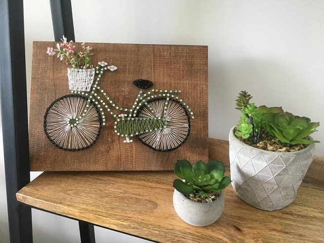 Tips to improve String Art pictures, put on a shelf