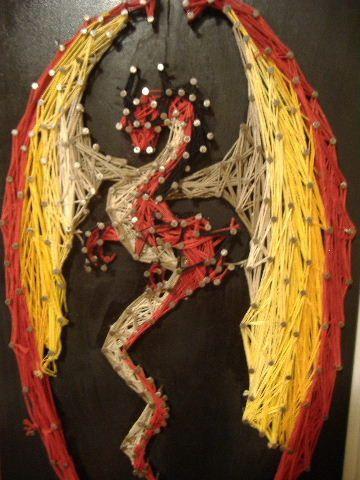 Dragon String Art