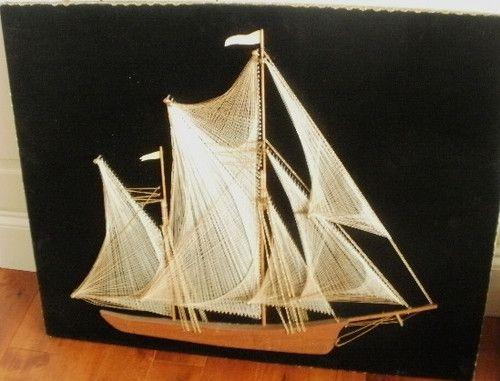 Old Ship String Art