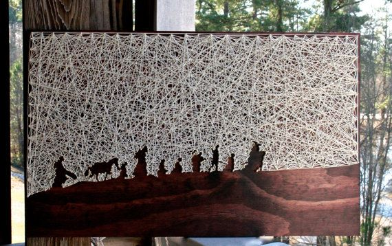 The Lord of the Rings String Art